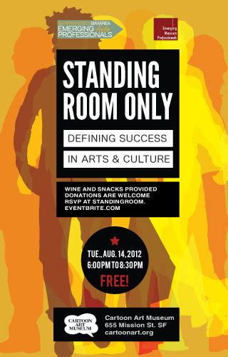 standing room only standing room only emerging arts professionals sf ba