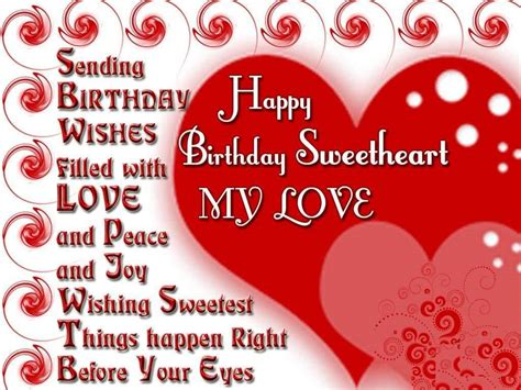 Happy Birthday Wishes In For Lover Birthday Wishes For Boyfriend Romantic Lovely Message