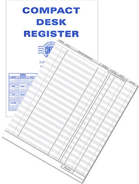 Desk Register compact desk transaction register checks in the mail