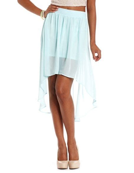 light blue chiffon skirt light blue mint hi low chiffon skirt on the hunt