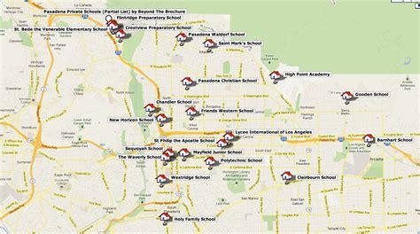 pasadena california map map of pasadena ca area my