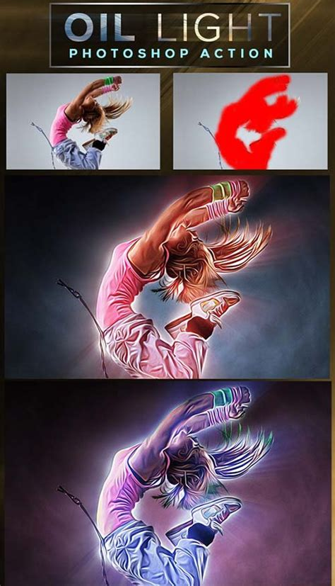 light runner photoshop action photoshop add ons graphicriver godfather light photoshop