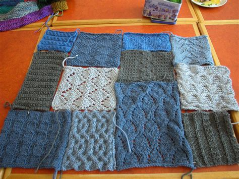 Knitted Patchwork Quilt - patchwork delight the knit cafe