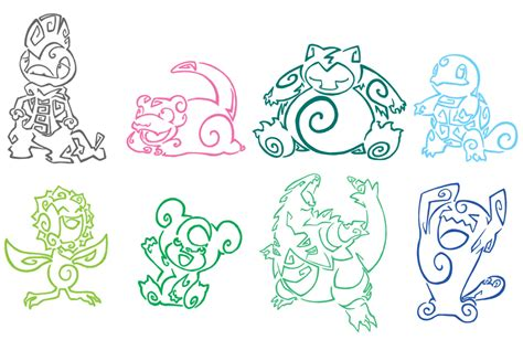 pokemon tattoo pack 3 by aerpenium on deviantart