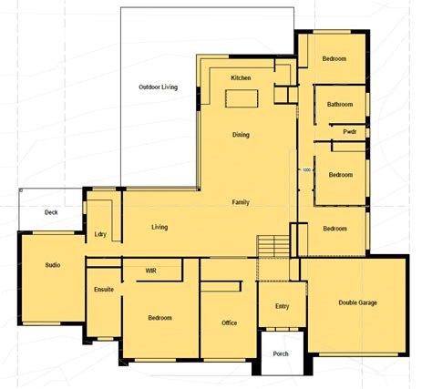 house plans for corner blocks floor plan friday u shaped home katrina chambers lifestyle blogger interior