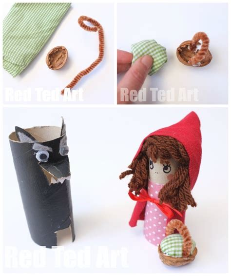 Toilet Paper Roll Little Red Riding Hood Craft   Red Ted