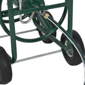 water hose reel cart 300 ft outdoor garden heavy duty yard