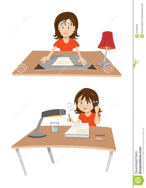 bureau femme femme au bureau photos libres de droits image 21199318