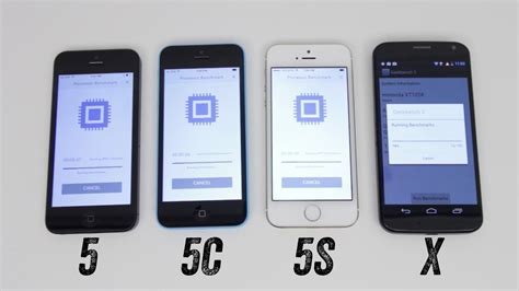 iphone 5s vs iphone 5c vs iphone 5 vs moto x benchmark test geekbench