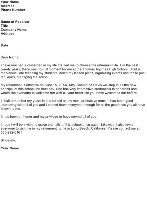 sle retirement letter business letter format retirement 28 images retirement 1602