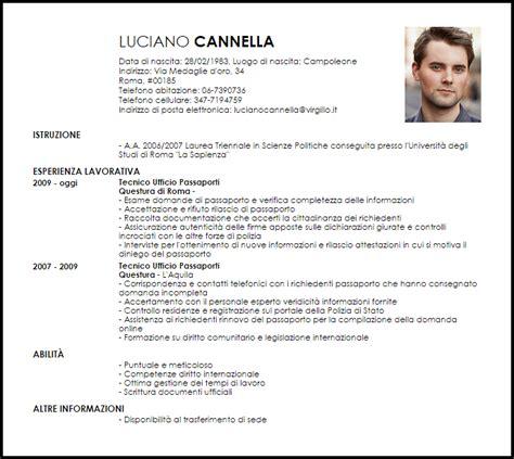 questura roma ufficio passaporti modello curriculum vitae tecnico ufficio passaporti