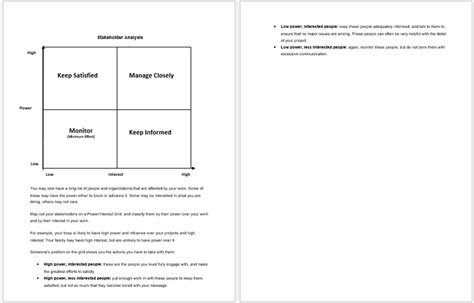 stakeholder report template 8 best templates to analysis stakeholders word excel