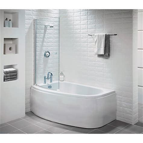 corner bath with shower screen tranquil corner shower bath screen right