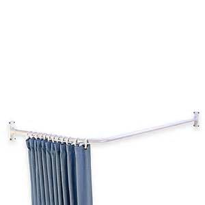 l shaped corner shower curtain rod bed bath beyond