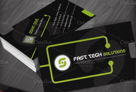 tech business card template technology business cards templates business card