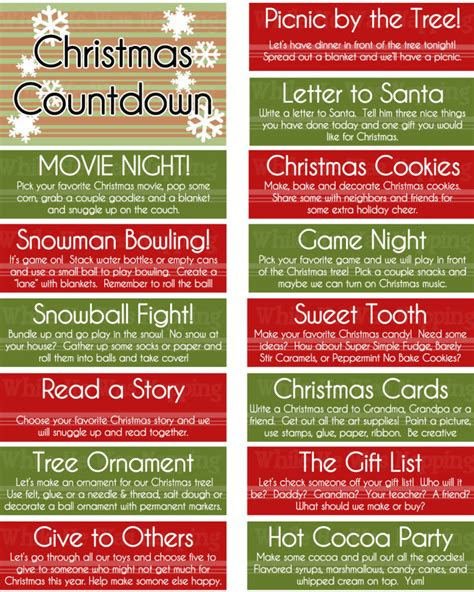 25 days of christmas office activities printable kid s countdown jar while he was napping