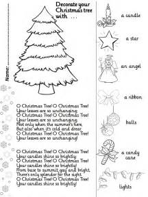 enjoy teaching english o christmas tree song activity