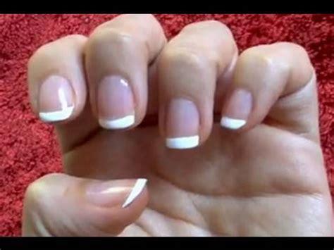 imagenes de uñas pintadas ala francesa manicura francesa youtube