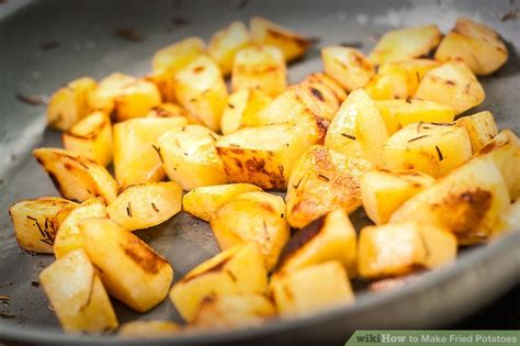 6 ways to make fried potatoes wikihow
