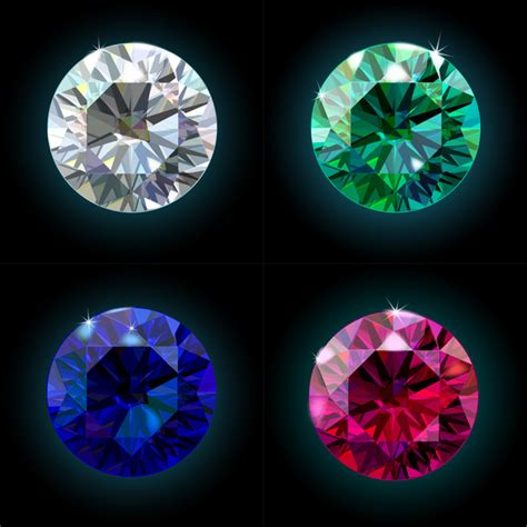 Colorful diamond vector illustration 02   Vector Life free