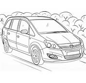Opel Zafira Coloring Page  Free Printable Pages