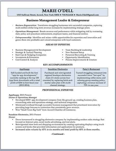 former business owner resume small business owner resume examples