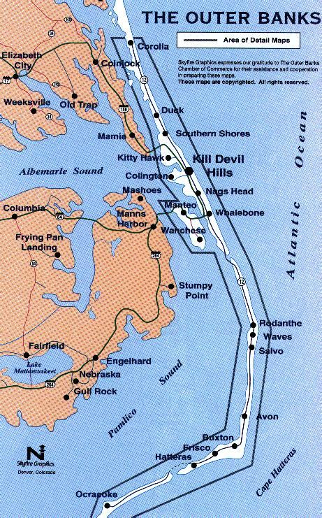 map of carolina duck outerbanksmap