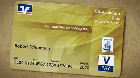 vr bank card plus die vr bankcard plus mitgliederkarte einfach erkl 228 rt