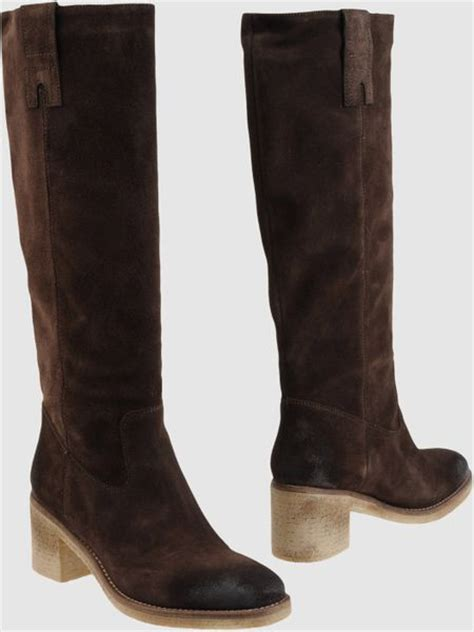 nana high heeled boots in brown lyst