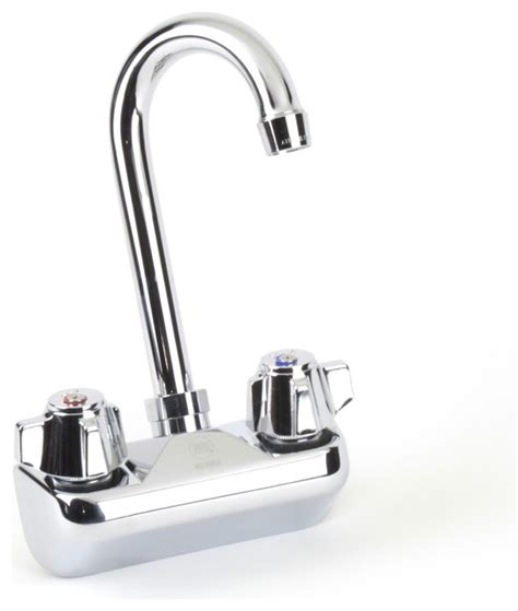 4 quot wall mount faucet contemporary kitchen faucets by