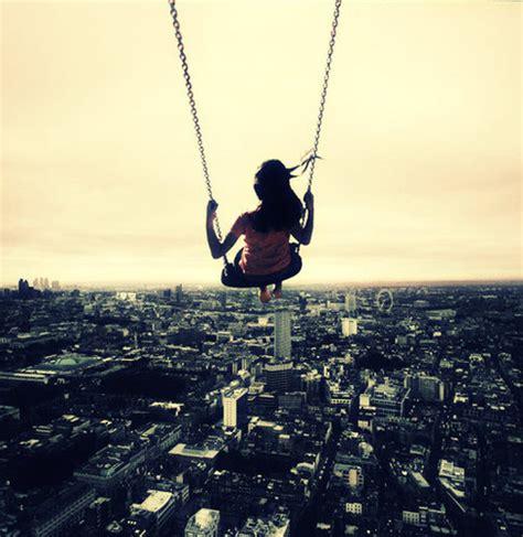 swing in the city city girl sky swing vintage image 118733 on favim com