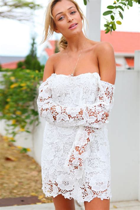 Trendy White Sexy Off Shoulder High » Home Design 2017