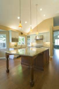 kitchen island with table extension how is the table seating end constructed to support the