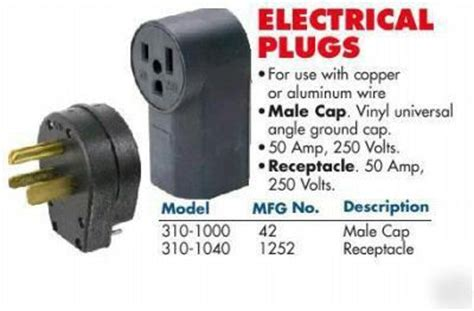 male & female welders plugs # 42 & 1252