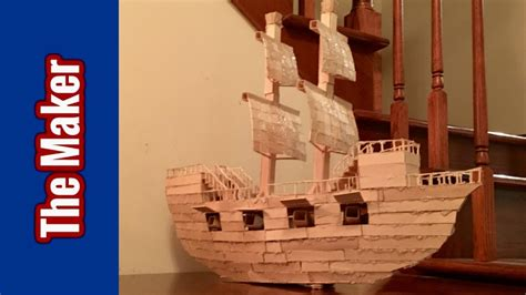 how to build a boat made out of wood popsicle stick model of a ship hd youtube