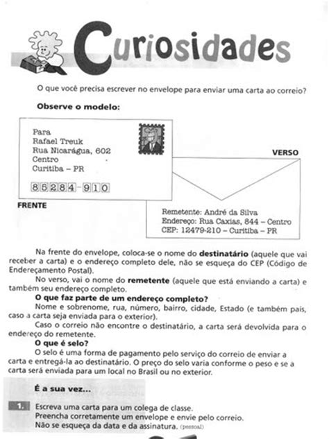 atividade sobre carta formal e informal espa 199 o educar trabalhando produ 231 227 o textual cartas