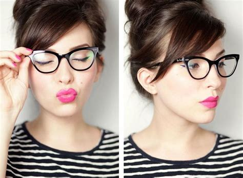 hairstyles for cat eye glasses bangs and glasses hairstyle ideas hair world magazine