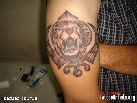 khanda lion tattoo designs khanda with designs www imgkid the