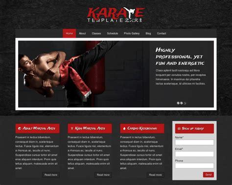 Karate Wordpress Theme Responsive Wordpress Theme Karate Website Template