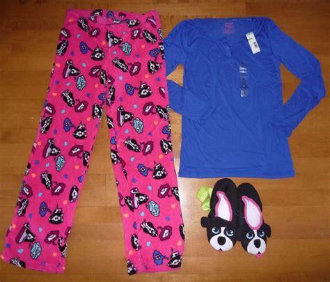 pajamas and slippers womens joe boxer pajamas w slippers size sm med nwt