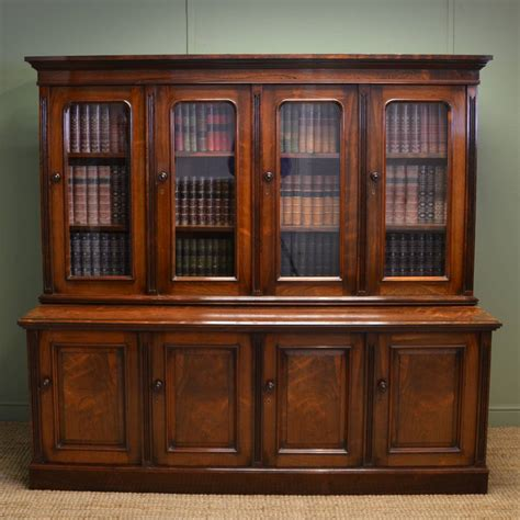 Edwardian Homes Interior spectacular figured rosewood victorian antique library