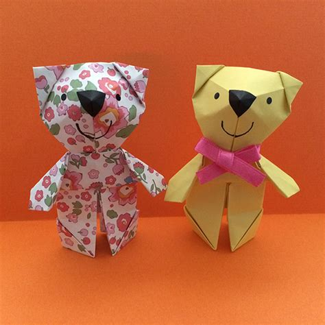 How To Make Paper Teddy - shoko origami