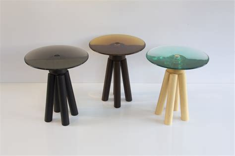 The Tables Turned by Luciano Santelli Combines Turned Wood And Cast Resin In