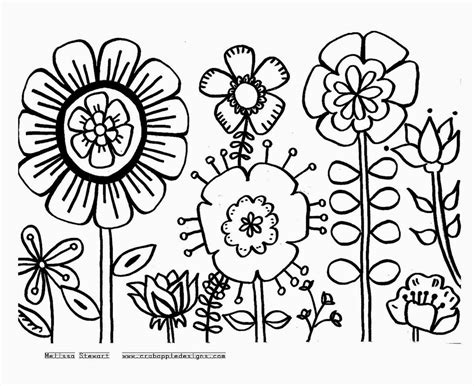 Large Coloring Pages To Print by Flowers Coloring Sheets Free Coloring Sheet