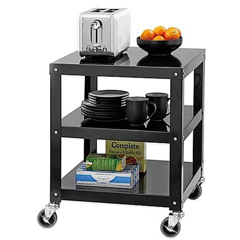 bed bath and beyond cart studio 3b appliance cart in black bed bath beyond