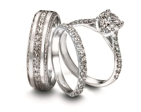 Wedding Bands Gold Coast by Engagement Ring And Wedding Band Set For Him And Jeff