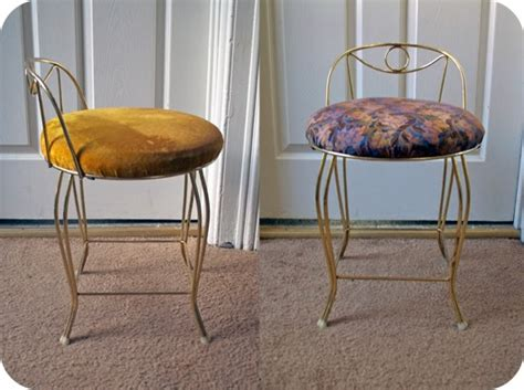 How To Reupholster A Vanity Bench by Reupholstering A Vanity Chair Sally
