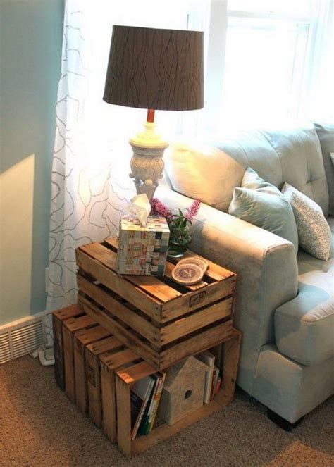 crate end table diy 25 diy side table ideas with lots of tutorials wooden