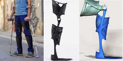 leg brace kafo splint 3d printed leg brace customized for a fit 3dprint