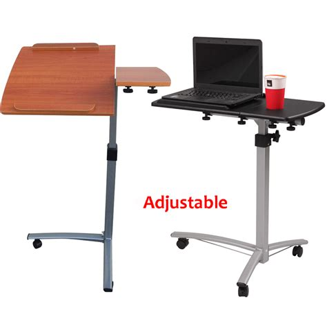 rolling laptop desk adjustable height adjustable rolling laptop desk hospital table
